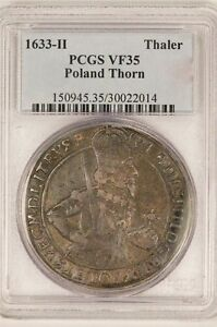 Click now to see the BUY IT NOW Price! POLAND 1633 H THALER CITY OF THORN  PCGS VF35   LY   ORIGINAL.