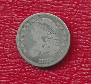 1831 CAPPED BUST DIME   WELL TONED WITH FULL