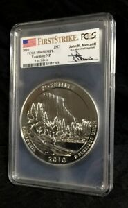 Click now to see the BUY IT NOW Price! 2010 YOSEMITE ATB PCGS MS69 DMPL FIRST STRIKE MERCANTI 5OZ SILVER POP 3