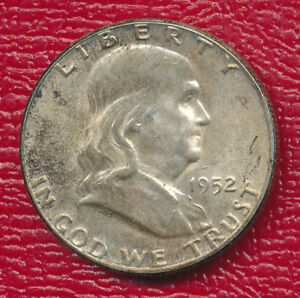 1952 FRANKLIN SILVER HALF DOLLAR   ABOUT UNCIRCULATED