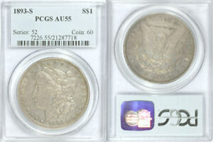 Click now to see the BUY IT NOW Price! 1893 S PCGS AU55 KEY DATE SILVER MORGAN DOLLAR