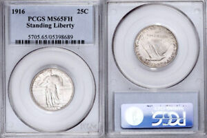 Click now to see the BUY IT NOW Price! 1916 PCGS MS65 FULL HEAD ORIGINAL LIGHTLY TONED STANDING LIBERTY 25C