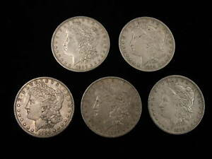 Click now to see the BUY IT NOW Price! MORGAN SILVER DOLLAR LOT  5PCS 1883 P 1884 O 1884 S 1889 P 1889 O CIRC FREE SHIP