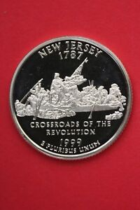SILVER 1999 S NEW JERSEY STATE QUARTER EXACT COIN SHOWN FLAT RATE SHIP TOM13