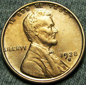 1928 S LINCOLN CENT WHEAT PENNY     UNCIRCULATED       N980