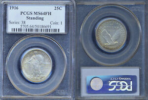 Click now to see the BUY IT NOW Price! 1916 PCGS MS64 FULL HEAD STANDING LIBERTY QUARTER.