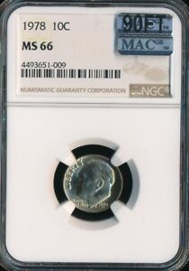 Click now to see the BUY IT NOW Price! 1978 ROOSEVELT DIME NGC MAC MS66 90FT FINEST GRADE