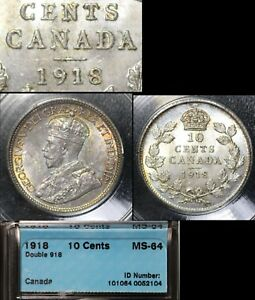 Click now to see the BUY IT NOW Price! ELITE COINS   10 CENTS   1918   DOUBLE DATE   MS64   LX082