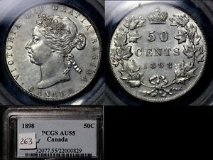 Click now to see the BUY IT NOW Price! ELITE COINS   50 CENTS   1898   AU55 PCGS LUSTRE BOOK $5500  LX115