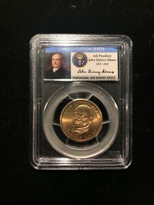 Click now to see the BUY IT NOW Price! 2008 JOHN QUINCY ADAMS PCGS SP67 MISSING EDGE LETTERING MINT ERROR DOLLAR SATIN
