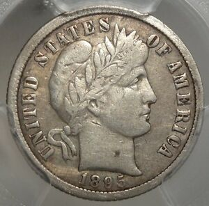 1895 O BARBER DIME CERTIFIED KEY DATE NEW ORLEANS MINT RARITY PCGS CERT