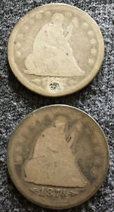 1873 AND 1874 SEATED LIBERTY QUARTERS