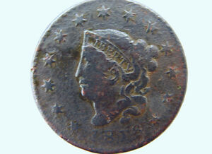 1818 AMERICAN LIBERTY 1 CENT LARGE PENNY CORONET HEAD COIN W/ NICE DETAILS