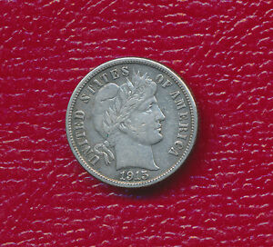 1915 S BARBER SILVER DIME   FULL LIBERTY   BETTER DATE
