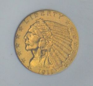 Click now to see the BUY IT NOW Price! 1911 D INDIAN HEAD $2.50 GOLD NGC CAC MS 64