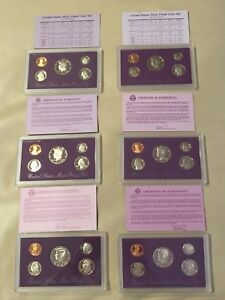 Click now to see the BUY IT NOW Price! 1988 1989 1990 1991 1992 1993 US MINT PROOF SET WITH BOX AND CERTIFICATE.