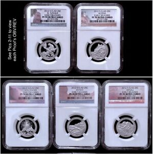 2012 S CLAD ATB NP QUARTER 5 COIN PROOF SET NGC PF 70 UCAM EARLY RELEASES