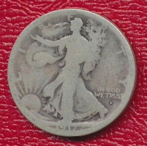 1917 S WALKING LIBERTY SILVER HALF DOLLAR   OBVERSE