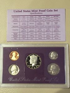 Click now to see the BUY IT NOW Price! 1988 1989 1991 1992 1993 US MINT PROOF SET WITH BOX AND CERTIFICATE.