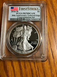 Click now to see the BUY IT NOW Price! 2016W SILVER EAGLE CONGRATULATION SET FIRST STRIKE POP OF 1