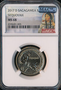 Click now to see the BUY IT NOW Price! 2017 D SACAGAWEA DOLLAR  SEQUOYAH NGC MAC MS68 FINEST SPOTLESS