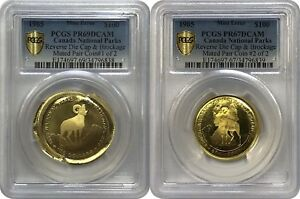 Click now to see the BUY IT NOW Price! UNIQUE 1985 PROOF $100 CANADA GOLD COIN MATED PAIR OF DIE CAPS PCGS