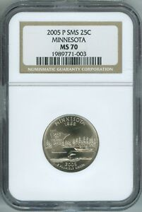 Click now to see the BUY IT NOW Price! 2005 P NGC SMS MS70 QUARTER MINNESOTA  25C FINEST REGISTRY BEAUTY