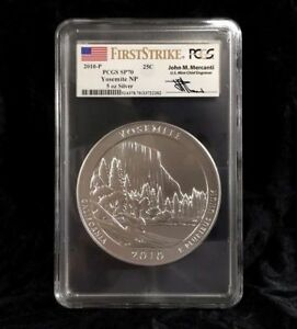 Click now to see the BUY IT NOW Price! 2010 P ATB YOSEMITE PCGS SP70 FIRST STRIKE MERCANTI 5 OZ SILVER POP 74 AMERICA