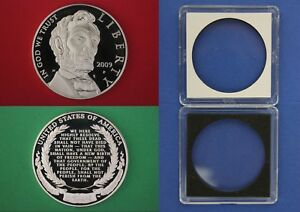 2009 P PROOF ABRAHAM LINCOLN COMMEMORATIVE SILVER DOLLAR DCAM WITH 2X2 CASE