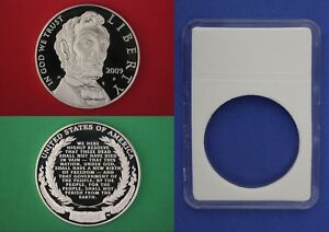 2009 P PROOF ABRAHAM LINCOLN COMMEMORATIVE SILVER DOLLAR DCAM WITH DIY SLAB