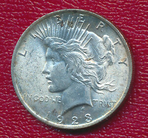 1923 PEACE SILVER DOLLAR   BRILLIANT UNCIRCULATED