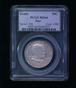 Click now to see the BUY IT NOW Price! 1922 P GRANT WITH STAR SILVER HALF DOLLAR COMMEMORATIVE 50C PCGS MS 64
