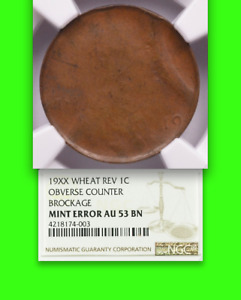 Click now to see the BUY IT NOW Price! WHEAT CENT NGC AU53  100  COUNTER BROCKAGE   ONE CERTIFIED? LINCOLN 1C