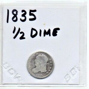 1835 CAPPED BUST TYPE HALF DIME US COIN
