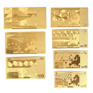 7PCS USA BANKNOTE BILLS BANK NOTE GOLD FOIL FAKE CURRENCY PAPER MONEY COLLECTION