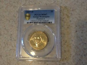 Click now to see the BUY IT NOW Price! 2007 D PCGS MS67 GEORGE WASHINGTON PRESIDENTIAL DOLLAR POSITION A