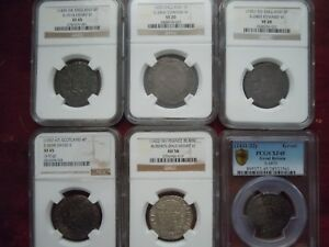 Click now to see the BUY IT NOW Price! 6 NGC/PCGS GRADED MEDIEVAL HAMMERED BRITISH COINS  1357 1553