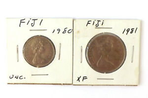 LOT OF TWO FIJI COINS 10 CENTS AND 20 CENTS DATED 1980 AND 1981