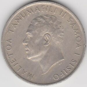 1967 SAMOA  KM 4 NICE LARGE VINTAGE TEN SENES COIN   PLEASE SEE SCANS