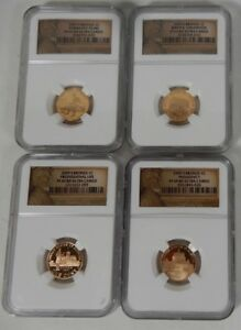 2009 S LINCOLN CENT PROOF BICENTENNIAL 4 COIN NGC PR 69 SET  1