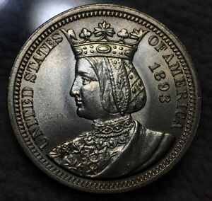 Click now to see the BUY IT NOW Price! 1893 ISABELLA QUARTER  GEM BU  NICE LUSTER