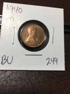 1940 D LINCOLN CENT BU 249