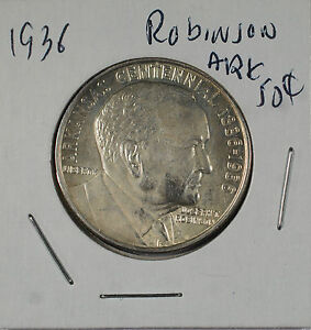 1936   ROBINSON / ARKANSAS COMMEMORATIVE HALF DOLLAR  50C    BU
