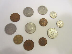 WORLD COINS    LOT OF 12 ASSORTED CARIBBEAN ISLAND COINS