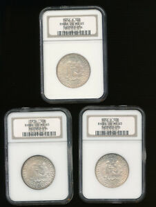 1936 P 1936 D 1936 S SET OF RHODE ISLAND SILVER HALF COMMEMORATIVE ALL NGC MS 65