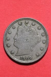 1909 LIBERTY V NICKEL 5 CENTS EXACT COIN SHOWN FLAT RATE SHIPPING OCE 313