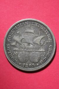 1893 COLUMBIAN EXPOSITION HALF DOLLAR EXACT COIN SHOWN FLAT RATE SHIPPING OCE244