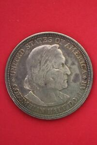 1893 COLUMBIAN EXPOSITION HALF DOLLAR EXACT COIN SHOWN FLAT RATE SHIPPING OCE166