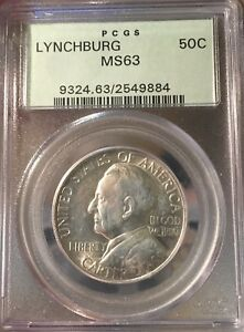 LYNCHBURG 1936 PCGS MS63 OGH SILVER COMMEMORATIVE HALF DOLLAR