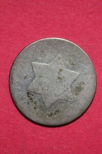 LOW GRADE NO DATE SEATED LIBERTY TRIME 3 CENT SILVER FLAT RATE SHIPPING OCE 020